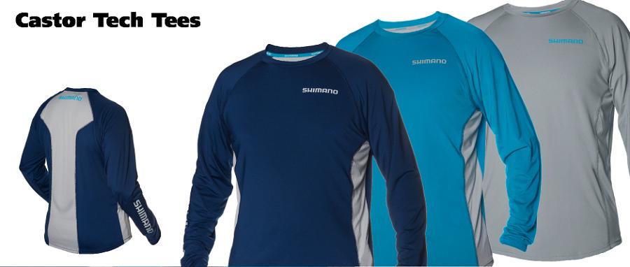 Shimano fishing shirt castor performance ls for Shimano fishing shirts