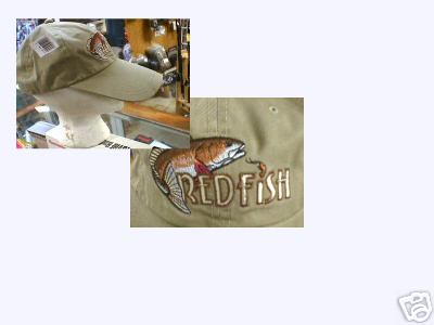 FISHING  HAT EXTRA LONG BRIM REDFISH