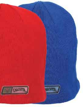 CALCUTTA BEANIE,LINED RED OR BLUE