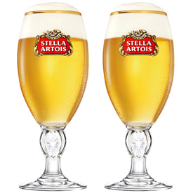 STELLA ARTOIS BEER CHALICE free shipping