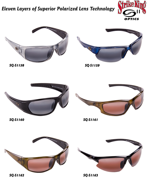 945aa22da1d STRIKE KING SUNGLASSES S11 Eleven Layers of Superior Polarized Lens  Technology