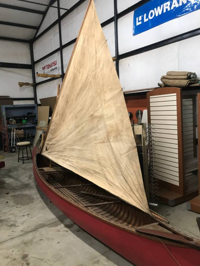 Old Town Sailing Canoe 1940 model
