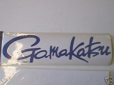 GAMAKATSU DECAL STICKER 18 X 5.5 INCH