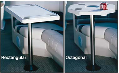 PONTOON TABLE RECTANGULAR or OCTAGONAL