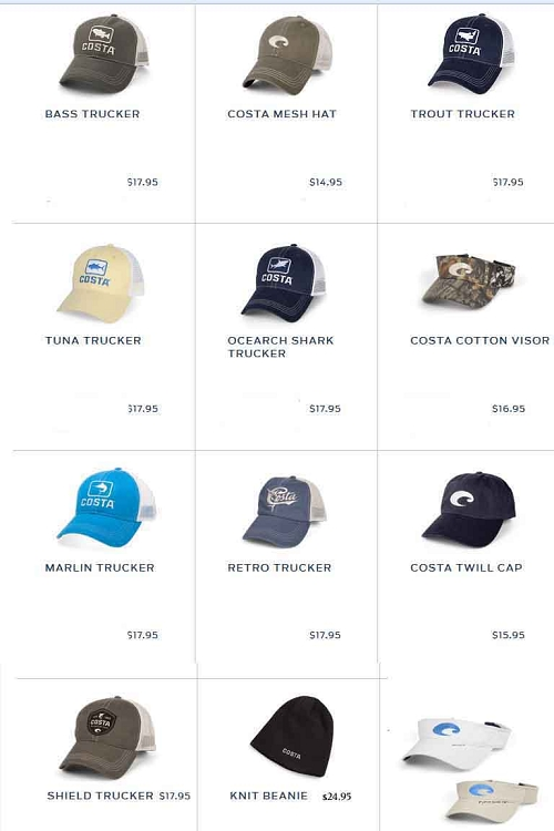 huge discount b16a5 d5bc5 COSTA DEL MAR HATS FREE SHIPPING IN USA