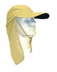 Sunshade Ball Cap W/Chin Strap & Neck Shade