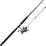 Quantum Blue Runner Spinning Combo, Saltwater, 5.2:1 Gear Ratio, 8/9/10 ' Length 2pc