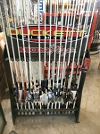 Boyd Duckett Rod Rack holds 16 rods gently used display model